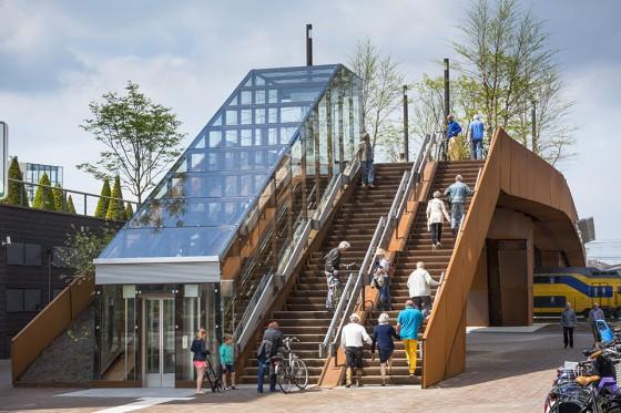 Paleisbrug Den Bosch NL by Benthem Crouwel Architects Amsterdam NL